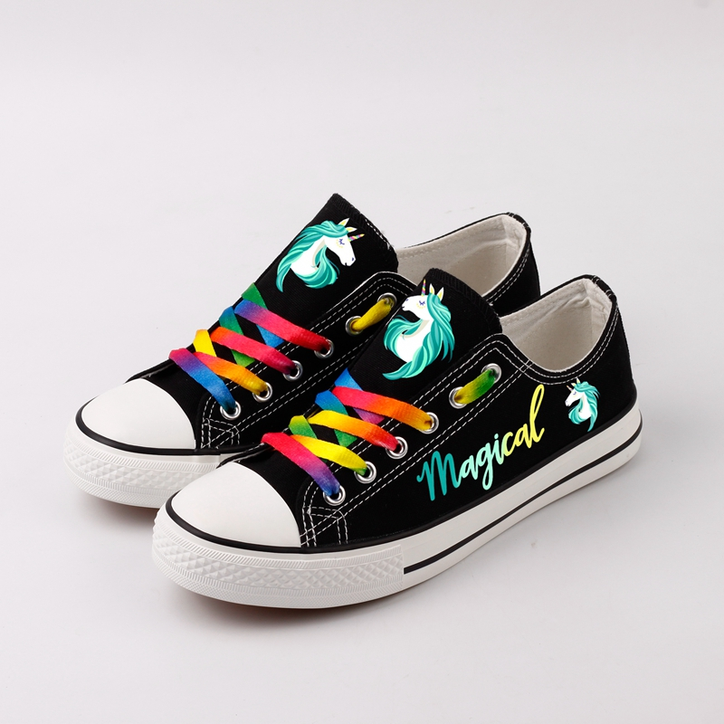 Fashion Dabbing Unicorn Custom Printed Canvas Shoes Women Flat Espadrilles Graffiti Unicorn Casual Leisure Shoes Zapatillas brand quality the walking dead canvas shoes printed women casual flat shoes diy couples and lovers valentine gifts graffiti shoe
