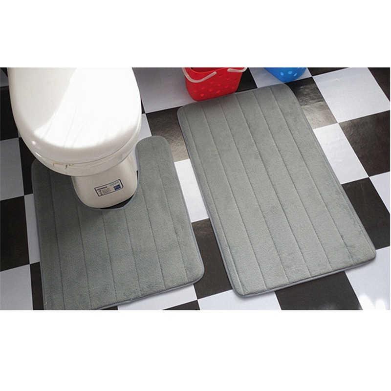 2 шт./компл. простой напольный туалетный коврик u-образный коврик для ванной комнаты туалетный табурет коврик для ванной мягкий ковровое покрытие для ванной banheiro