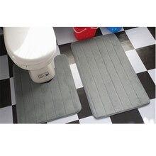 2pcs/set Simple Floor Mat For Toilet U Shape Bathroom Carpet WC Footmat Closestool Bath Soft tapete banheiro