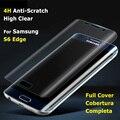 S6 borda transparente claro film protector de ecrã para samsung galaxy edge s6 curvo cobertura completa proteção de tela com caso tpu