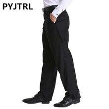 Классический черный мужской деловой костюм, мужские свободные штаны, формальные брюки среднего возраста