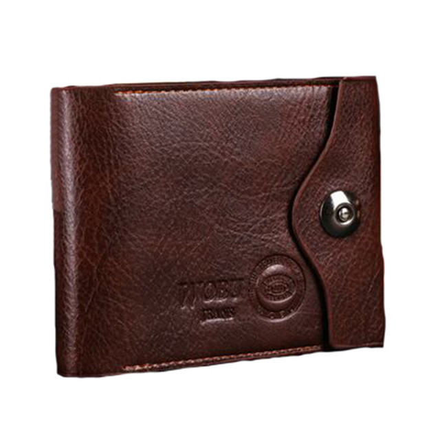 2016 Men's Faux Leather Bifold Wallet Card Holder Slim New Design Purse Gift Free Shipping