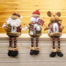Christmas ornament 32*13cm Santa Claus Snowman Elk Deer Color legs Best gift for children kids holiday tree decor 2C