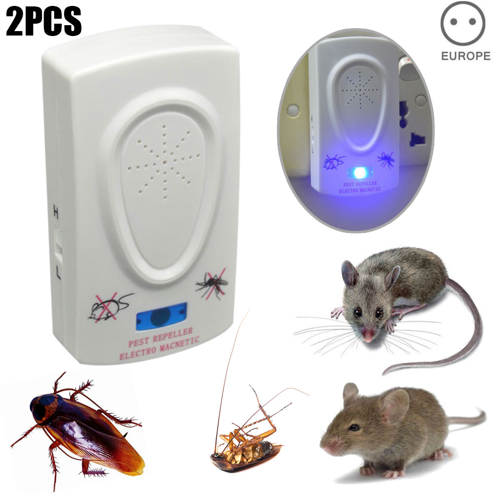 1 Pc 2pcs Ultrasonic Pest Repeller Electronic Mouse Repellent Mosquito Mice Spider Roaches Insect