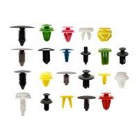 500 PCS Colorful Plastic Car Door Push Pin Trim Panel Clip Rivets Bumper With Screwdriver Tools