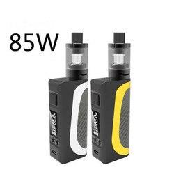 Vaporizador vape 85 w caixa de cigarro eletrônico mod e cigarro caixa conjunto fumaça com tela 2200mah e cigarro bateria incluir