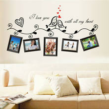 DIY Family Photo Frame Wall Stickers Wall Art Photo Frame Sticker For Home Decor Living Room Decoration TV Sofa Background Decal(China)