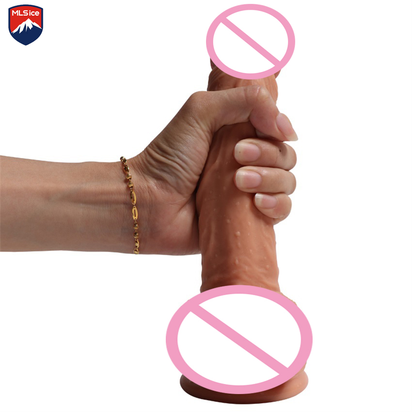 Mlsice 21*4cm Realistic Silicone Big Penis Dick With Strong Suction Cup Huge Dildos Cock Adult Sex Toys Sex Products for Women wearable penis sleeve extender reusable condoms sex shop cockring penis ring cock ring adult sex toys for men for couple