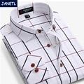 Brand Mens Long Sleeve Shirts Camisas Men Clothes Casual Shirts Plaid Shirt Men Camisa Social Slim Fit Plus Size New 2017
