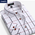 De marca Para Hombre Camisas de Manga Larga Camisas Hombres Camisas de Ropa Informal Camisa a cuadros Hombres Camisa Sociales Slim Fit Plus Size Nueva 2017