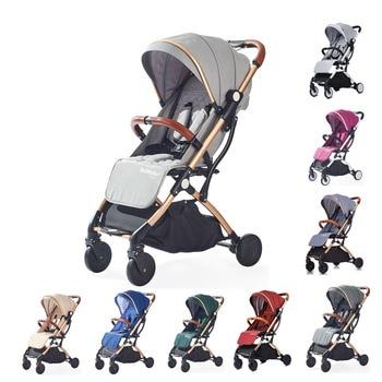 цена Tianrui Pocket stroller lightweight portable folding baby stroller can sit can lie one key operation for travel онлайн в 2017 году