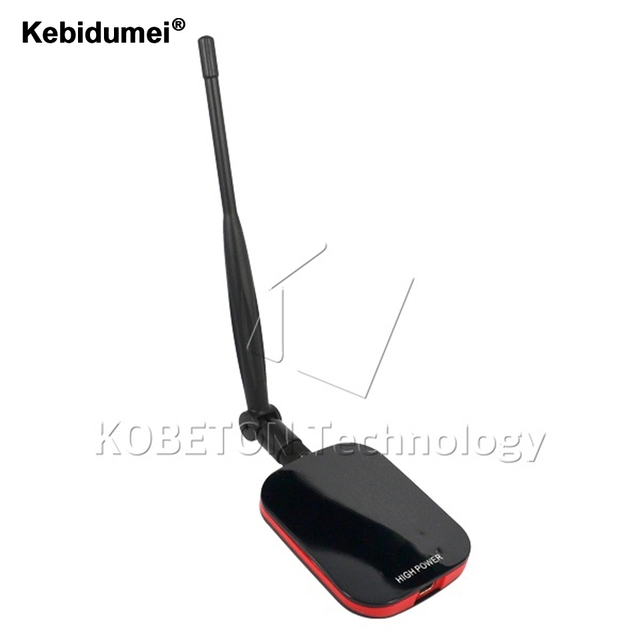 kebidumei High power Free internet Network USB WiFi Adapter LAN Wireless Network Card 150Mbps Wi-fi Receiver + Long wifi antenna