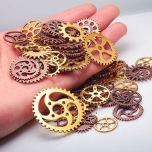 100pcs/lot  Vintage Metal Mixed Gears Charms For Jewelry Making Diy Steampunk Gear