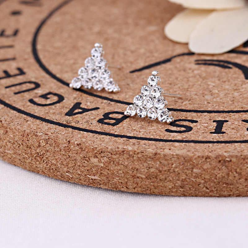 2019 חמוד מעודן Simlated פרל קריסטל Stud עגילים לנשים פרפר פתית שלג כוכב משולש כתר צורת עגיל Bijoux