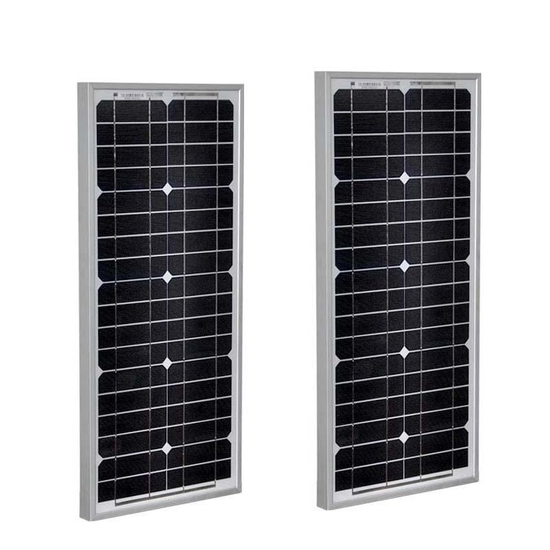 TUV PV Panel 12v 20w 2 Pcs Placas Solares 24v 20w Solar Charger Battery Car Caravan Camp Led Lights Battery For Boats