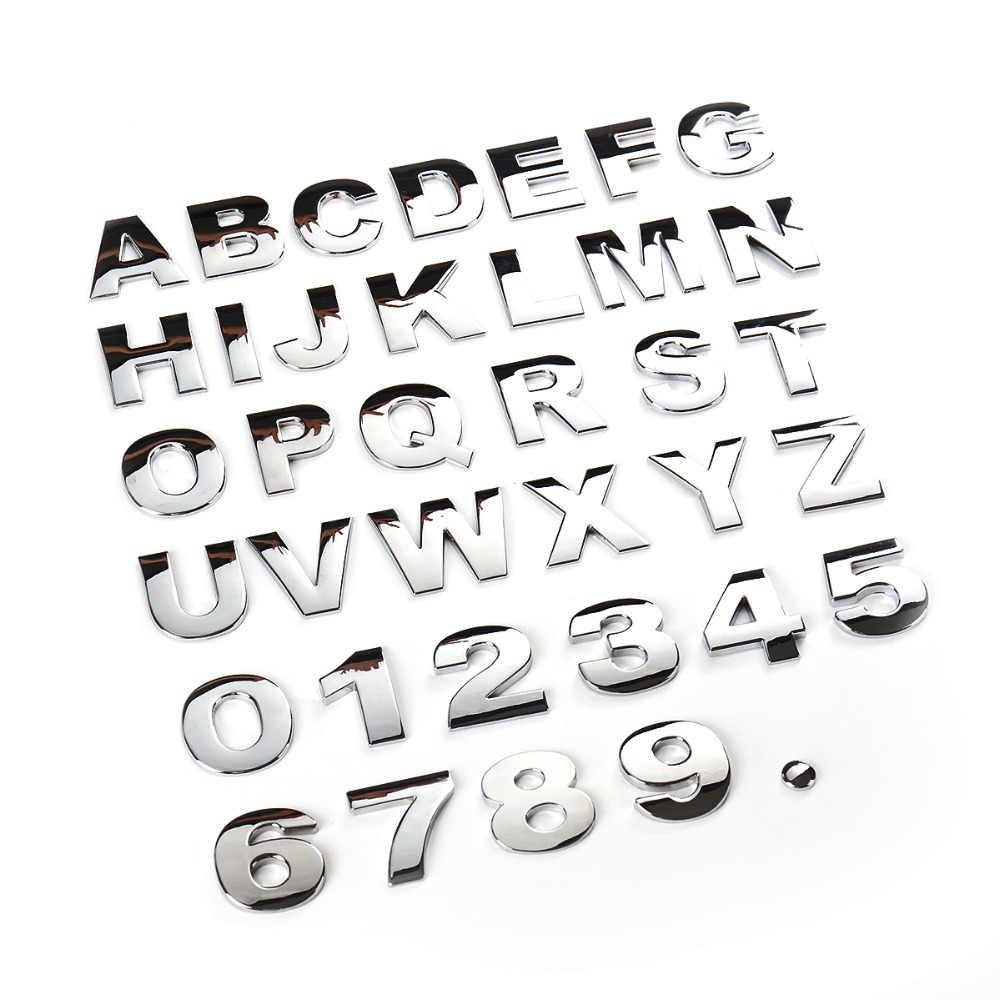 45 мм DIY буквы Алфавит эмблема хромированная Автомобильная наклейка s цифровой значок автомобилей Логотип 3D Металлические автомобильные аксессуары наклейка для мотоцикла