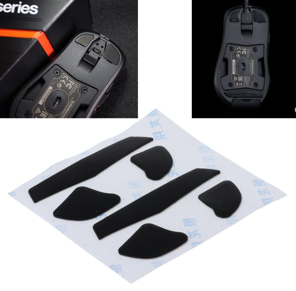 OPEN-SMART 2 Sets 0.6mm Replacement Mouse Feet Mouse Skates 100% Teflon For Steelseries RIVAL 700