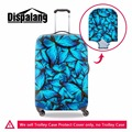 Travel on road stretchable travel luggage suitcase protective cover for 18 to 30 inch trunk case butterfly print baggage cover
