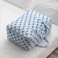 Organizador edredón mantas de almacenamiento de bolsa de Oxford funda de almacenamiento para la ropa de cama Bolsa de Almacenamiento de Ropa contenedor organizador de armario guardarropa