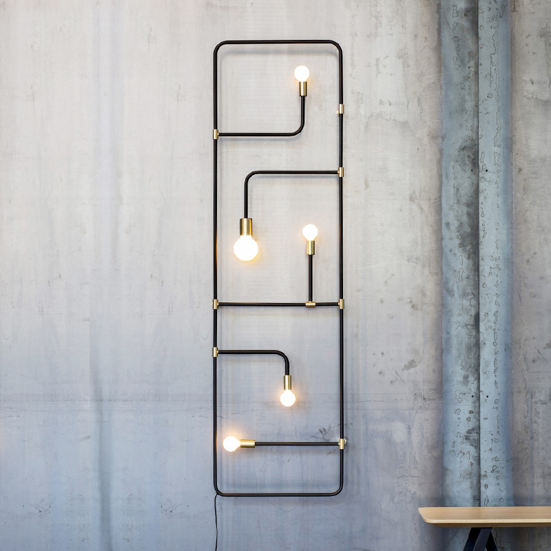 Nordic Loft Wall Lights Simple Industrial Style Black Iron Pipe Wall Lamp Bar Dining Room Decorative Wall Sconce Lamparas Pared