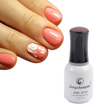 Fengshangmei 15ml 3 in 1 Manicure Pedicure Gel Polish Nail Art Design One Step Nail Gel