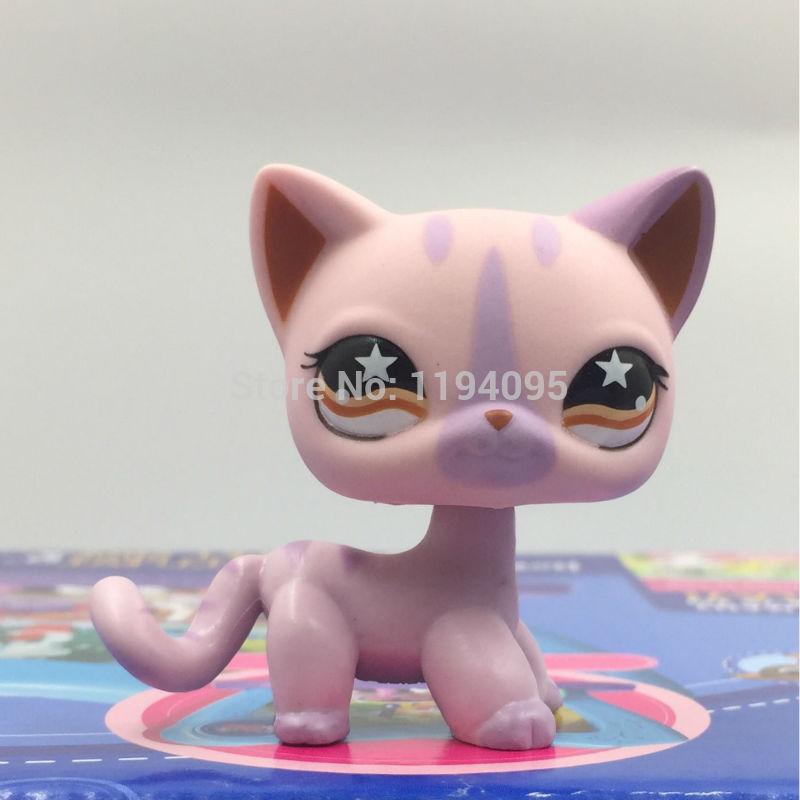 font b pet b font shop toys Short Hair kitty animal toys purple kitten yellow