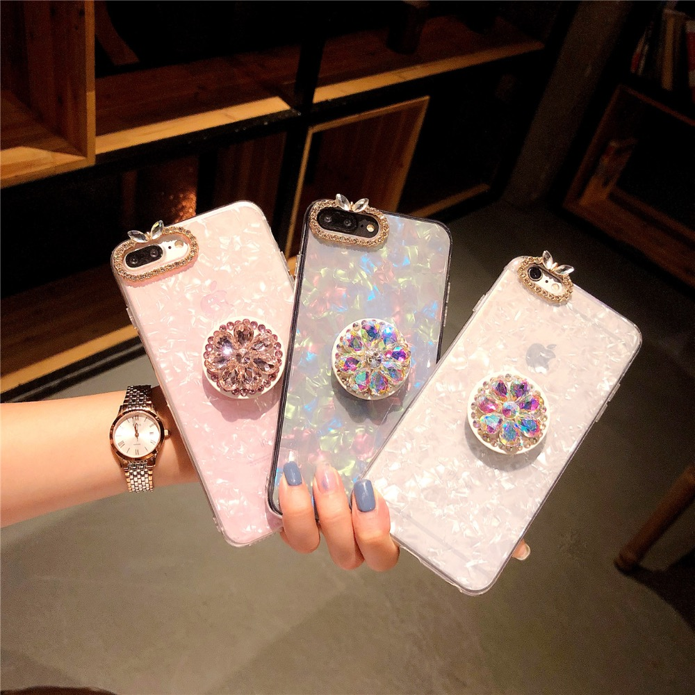 Rhinestone diamond shell phone case for iPhone 6 6s 7 8 plus X XS max XR
