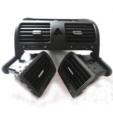 3PCS/SETS Front Left Right Central Dashboard Air Vent Set Fit For VW Golf MK5 Jetta MKV 1K0 819 703 1K0 819 704 1K0 819 728