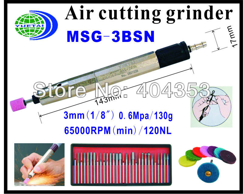 Air die Grinder(MSG-3BSN) Air Tools(Free Speed:65,000RPM) mirco air grinder mag 122n 35 000rpm collet size 20mm 0 6mpa 140g