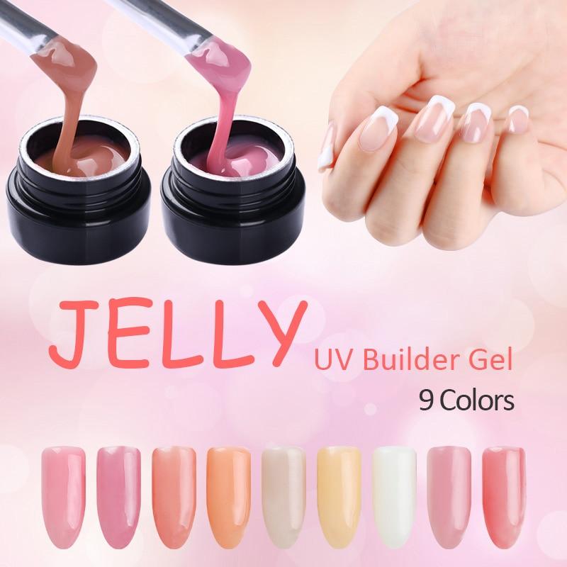 UR SUGAR 7ml Thick Builder Gel Nails Pink Finger Nail Extension UV ...