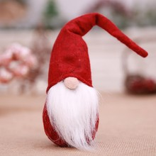 Christmas White Beard Christmas Elf Doll New Year Dinner Party Christmas Decorations  Home Festival Decoration