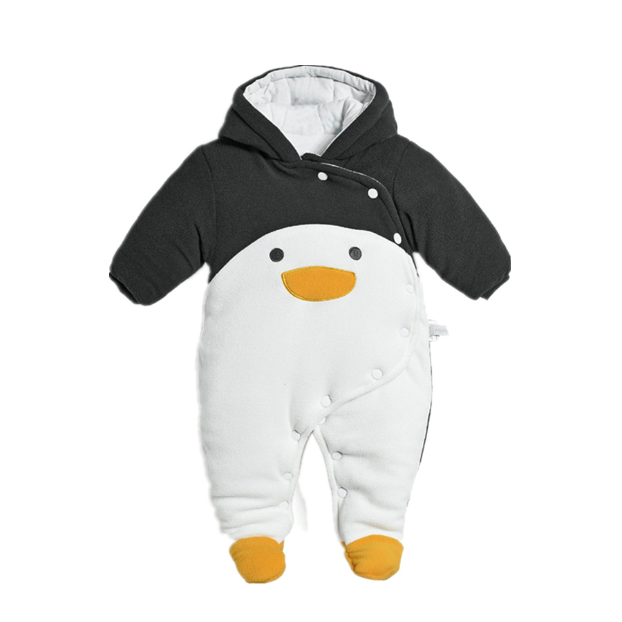Baby Rompers Winter Thick Character Penguin Newborn Clothes Cotton Fashion Baby Costume Long Sleeve Bebes Infantil Jumpsuits baby girl rompers 100% cotton overalls autumn winter kids long sleeve jumpsuits newborn infantil boys clothes baby costume bebes