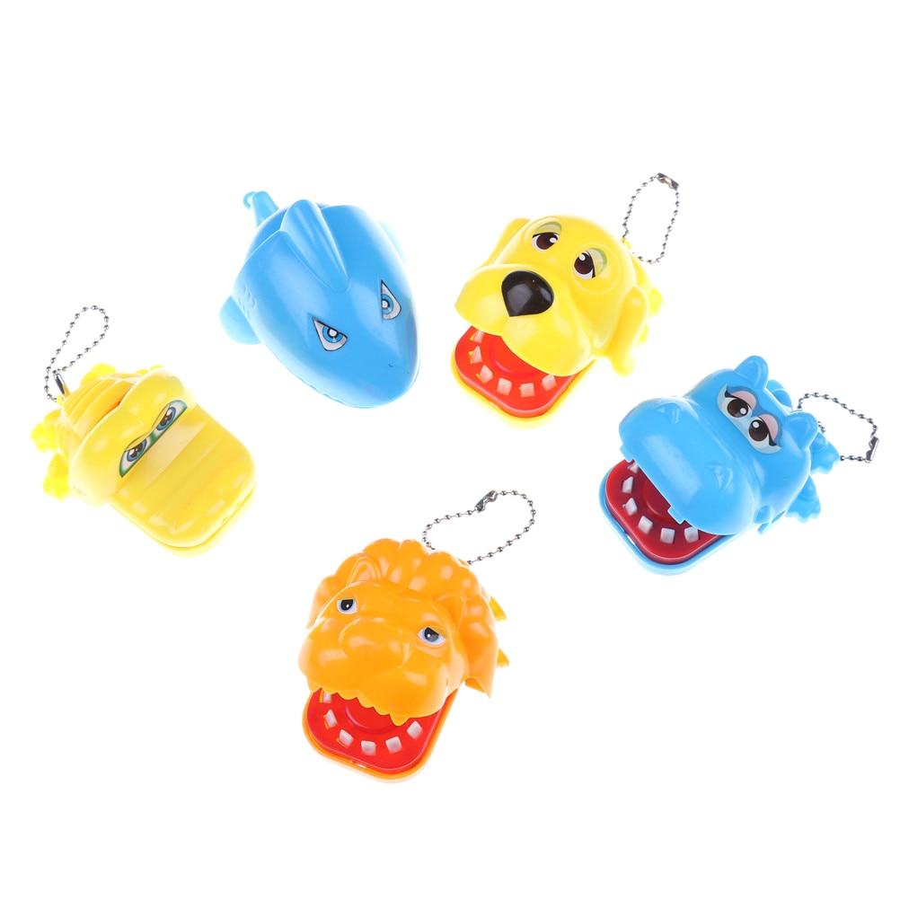 Novelty Gag Toy for Kids Children Play Fun Gift Large Hippo,Dog,Lion,Crocodile,Shark Mouth Dentist Bite Finger Game Funny  1Pcs