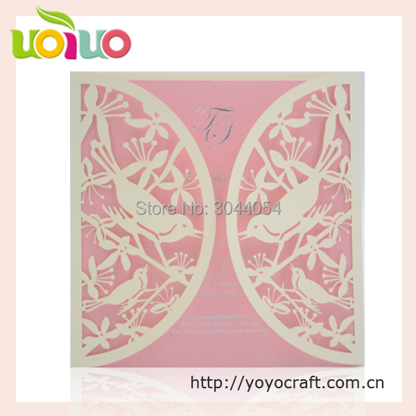50sets Hot Sell Discount Wedding And Party Favor Laser Cut Wedding