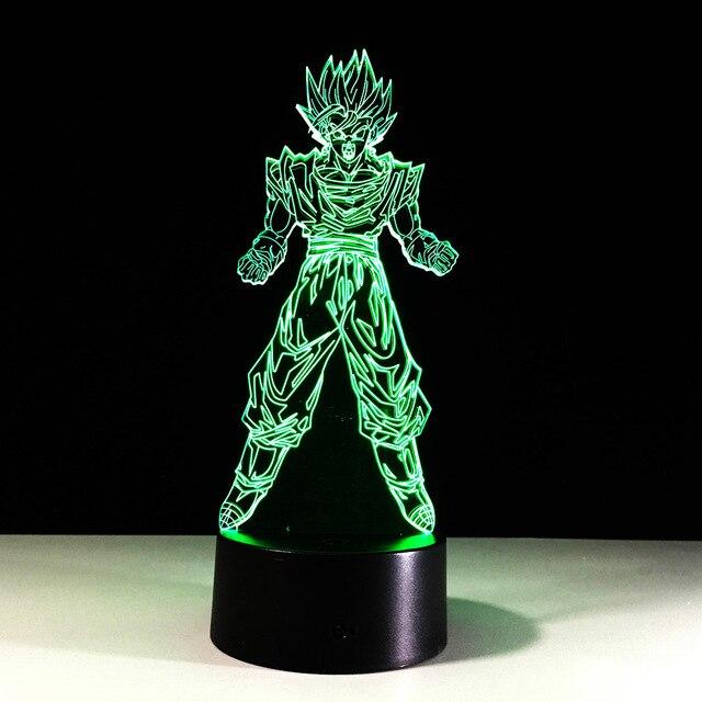 Dragon Ball Son Goku Sterkte bommen 3D Tafellamp Luminaria LED ...