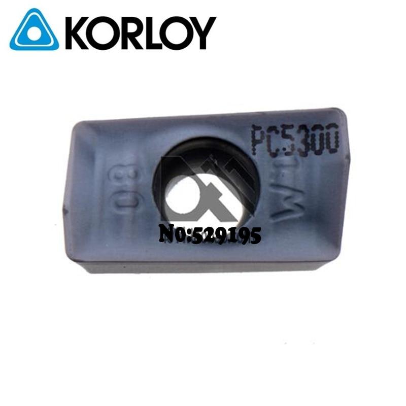 Original Korloy Insert APMT1604PDSR-QM PC5300 Carbide Inserts For Stainless Steel APMT 1604 APMT1604 PDSR Milling Cutter Lathe