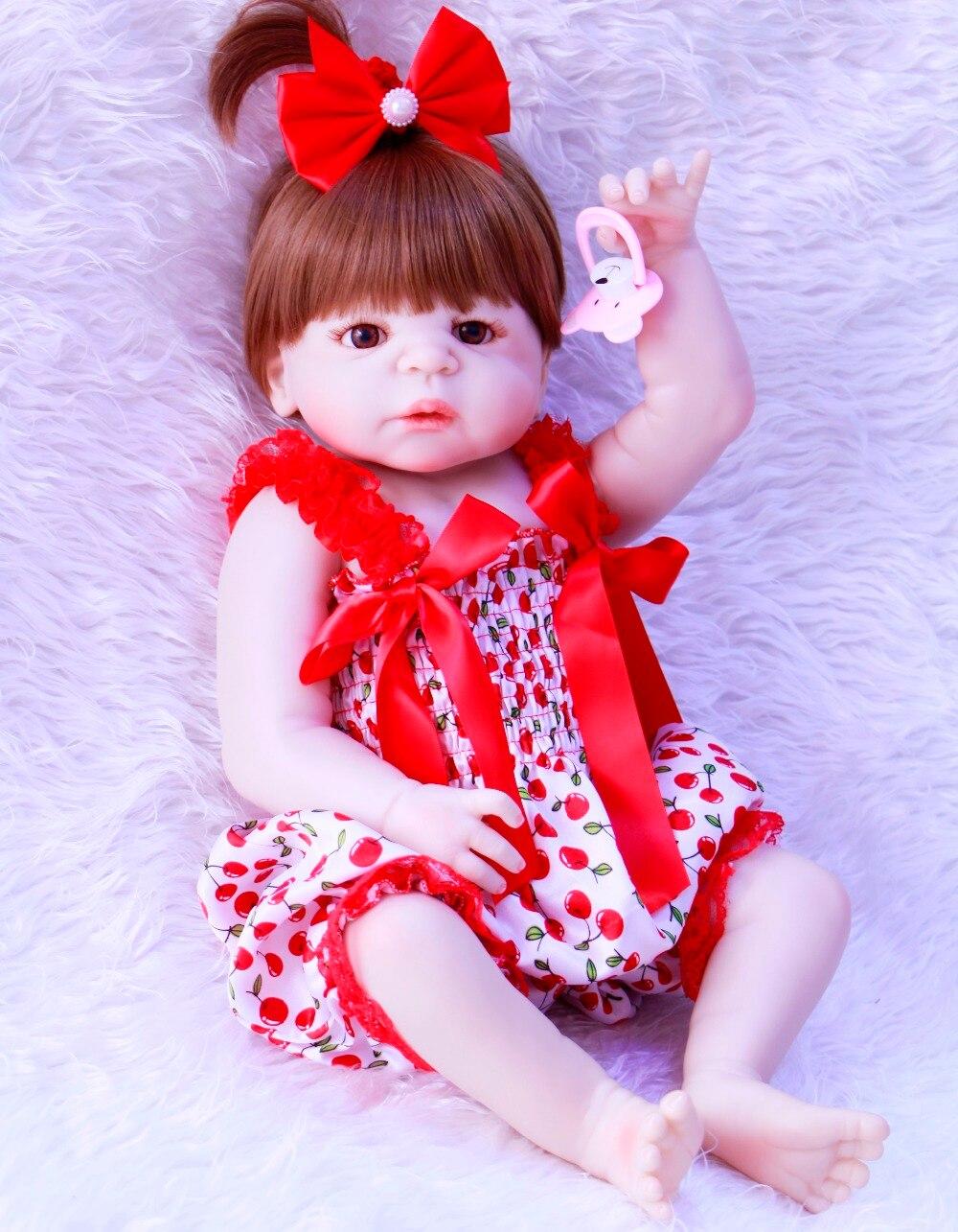 57cm Full Body Silicone Reborn Baby Doll Toys Bathe Toy  Baby-Reborn vinyl newborn wholesale reborn  toddlers kids presents toys57cm Full Body Silicone Reborn Baby Doll Toys Bathe Toy  Baby-Reborn vinyl newborn wholesale reborn  toddlers kids presents toys