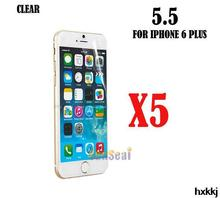 5pcs Clear Screen Protector Cover Front Screen Protector Film for Iphone 6 Plus 5 5 Without
