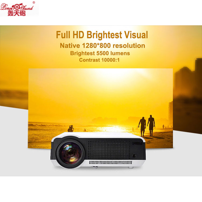 Poner Saund Full Hd New Mini Projector Proyector Led Lcd: Poner Saund LED HD Projector 5500 Lumens Beamer 1080P LCD