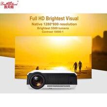 Al por mayor LLEVÓ el HD Proyector 5500 Lumens Beamer 1080 P TV LCD Proyector de Vídeo Full HD Multimedias del Teatro Casero LED86
