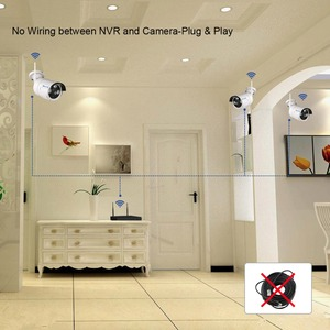 """Image 5 - Techage 8CH 1080P sans fil NVR Kit WiFi système de vidéosurveillance 12 """"écran de moniteur LCD 2MP IR caméra de sécurité extérieure ensemble de Surveillance vidéo"""