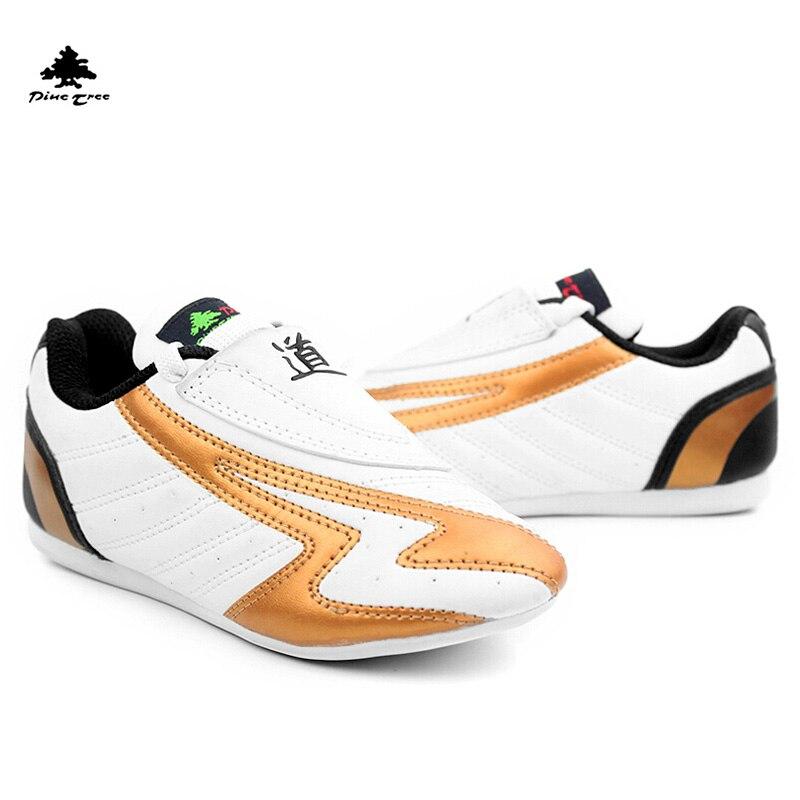 SSH 2016new Anak Dewasa WTF kulit Bernapas tahan aus Sepatu Taekwondo  kicking tinju karate pelatihan jalan 59b1bbc402
