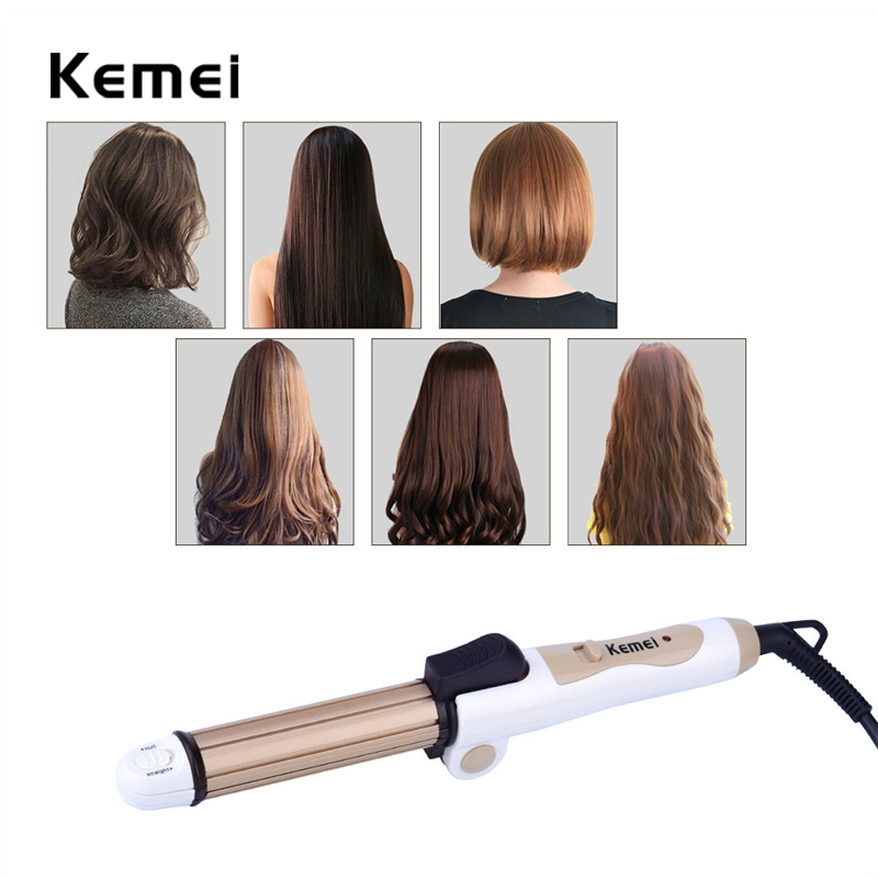 3 in1 Foldable Ceramic Hair Straightener Electric Hair Curler Curling Iron Multifunction corrugated Iron Corn Plate Styling Tool ckeyin 9 31mm ceramic curling iron hair waver wave machine magic spiral hair curler roller curling wand hair styler styling tool