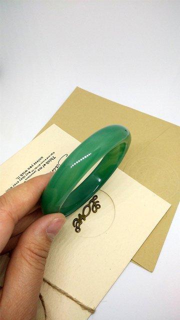 Bracelet Jonc Jade Vert