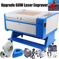UK Shipping! 700 * 500mm 60W Co2 Engraving Laser Engraving USB Cutting Wood Glass DST DXF JPG