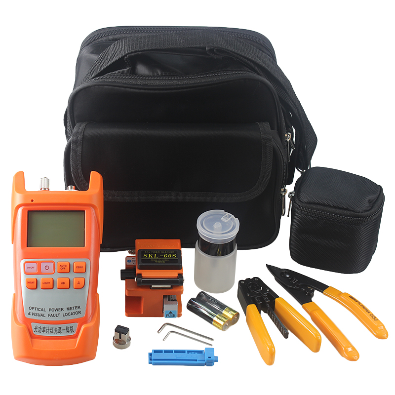 18 types Fiber Optic Tool bag Fiber Cleaver 2iN1 optical Power meter with 1-5km Laser source wire stripper18 types Fiber Optic Tool bag Fiber Cleaver 2iN1 optical Power meter with 1-5km Laser source wire stripper