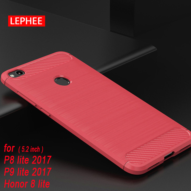 Case For Honor 8 9 Lite 8X Max Silicone Cases for Huawei P8 P9 Lite 2017 P20 Pro TPU Brushed Carbon Fiber Soft Phone Back Cover