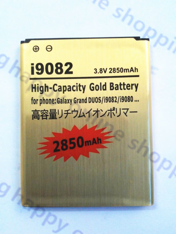 AZK Gold 2850mAh i9082 High Capacity Standard Business Standard Battery for samsung Galaxy Grand Duos i9082 9082 i9080