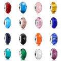 925 de Plata de ley Original Colores Europea Facetadas de cristal de Murano Granos Del Encanto Fit Pandora Style Pulsera Original Joyería Que Hace