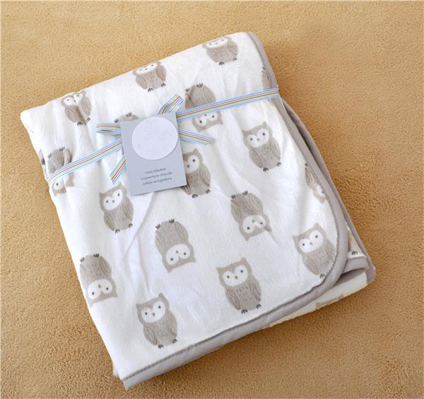 fashion carters Europe Baby children`s elephant owl Pattern blanket cartoon Be hold Air conditioning Knee blue blanket 15 style
